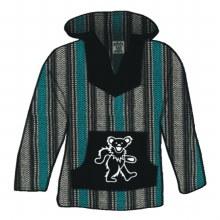 Grateful Dead Bear Striped Multicolor Baja