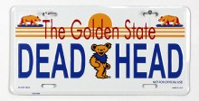 Grateful Dead California License Plate