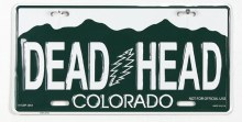 Grateful Dead CO License Plate