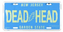 Grateful Dead NJ License Plate