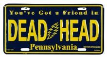 Grateful Dead PE License Plate