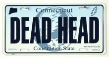 Grateful Dead CT License Plate
