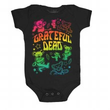 Grateful Dead Kids Bears Neon Onesie