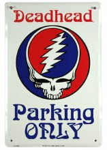 Grateful Dead Deadhead Parking Only Steal Your Face Metal Sign