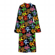 Grateful Dead Bears Jumble Fleece Robe