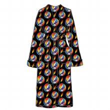 Grateful Dead Steal Your Face Rainbow Fleece Robe