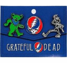 Grateful Dead 3 Pack Enamel Pins