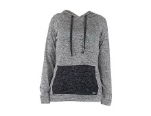 Carefree Threads Gray Heathered Hooded Sweatshirt