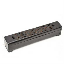 Black Wood Incense Burner