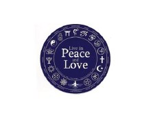 Live in Peace Bumper Sticker