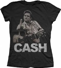 Johnny Cash Ladies Flippin The Bird