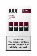 Juul 5% Virginia Tobacco 4 Pack Pods