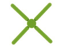 Krumbs Kitchen Green Silicone Trivet