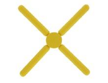 Krumbs Kitchen Yellow Silicone Trivet
