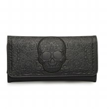 Black Lattice Skull Wallet by Loungefly