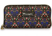 Bright Sugar Skull Print Wallet by Loungefly