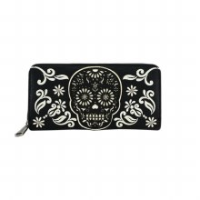 Black and White Skull Wallet by Loungefly