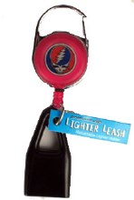 Grateful Dead Steal Your Face Pink Lighter Leash