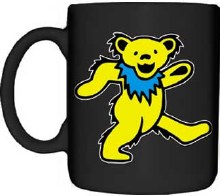 Grateful Dead Yellow Dancing Bear Coffee Mug