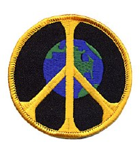 Earth Peace Sign Patch