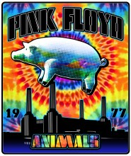Pink Floyd Animals Tie Dye Fleece Blanket