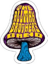 Allman Brothers Band Shroom Sticker