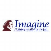 Lennon Quote Imagine Bumper Sticker