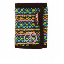 Brocade Peace Trifold Wallet