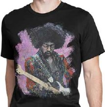 Jimi Hendrix Playing Guitar Splatter