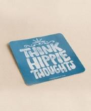 Think Hippie Thoughts Sticker