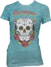 Sublime Ladies Skull Burnout