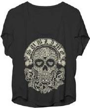 Sublime Ladies Black and White Skull Dolman