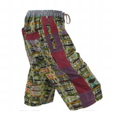 Hand Woven Patchwork Shorts