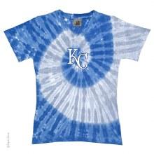 Kansas City Royals Ladies Spiral Dye