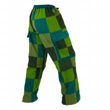 Patchwork Cotton Zip Off Pants Green