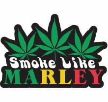 Bob Marley Smoke Like a Marley Patch