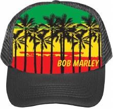 Bob Marley Palm Tree Trucker Hat