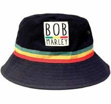 Bob Marley Black Bucket Hat