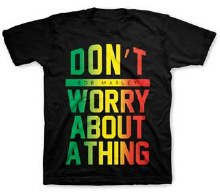 Bob Marley Kids Don't Worry Black