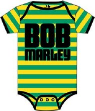 Bob Marley Kids Striped Onesie