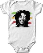 Bob Marley Kids Happy Stripe Onesie