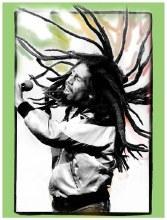 Bob Marley Flying Dreads Sticker
