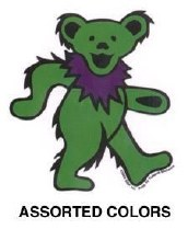 "Grateful Dead Dancing Bear 3"" Green Sticker"