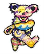 Grateful Dead Dancing Bear Sun Moon Giant Sticker