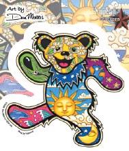 Grateful Dead Dancing Bear Psychadelic Sun Moon Sticker