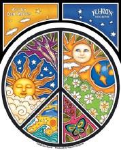 Sun Moon Peace Sticker