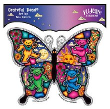 Grateful Dead Butterfly Dancing Bear Sticker