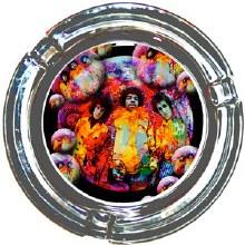 Jimi Hendrix Bubbles Glass Ashtray
