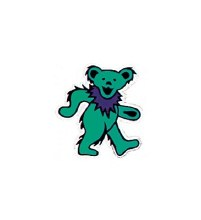 Grateful Dead Dancing Bear Green Window Sticker