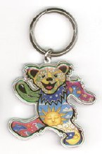 Grateful Dead Bear Sun Moon Keychain